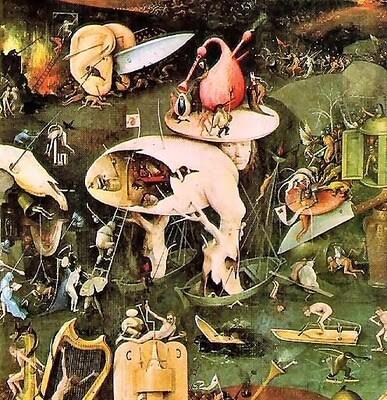 La vision de l'enfer de Bosch