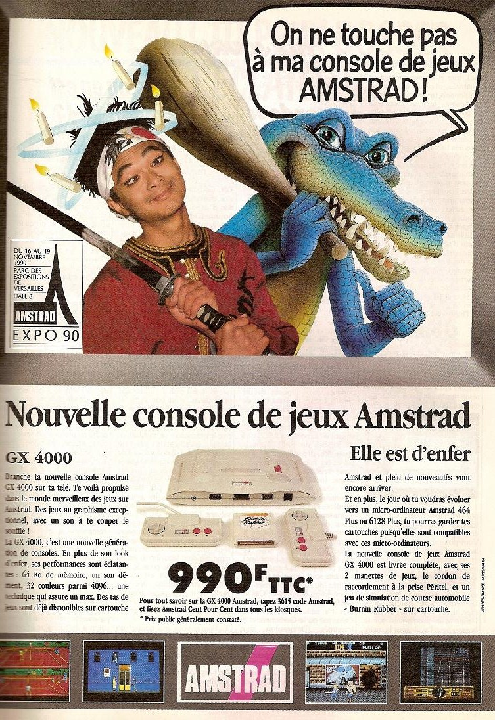 Amstrad GX-4000 publicité