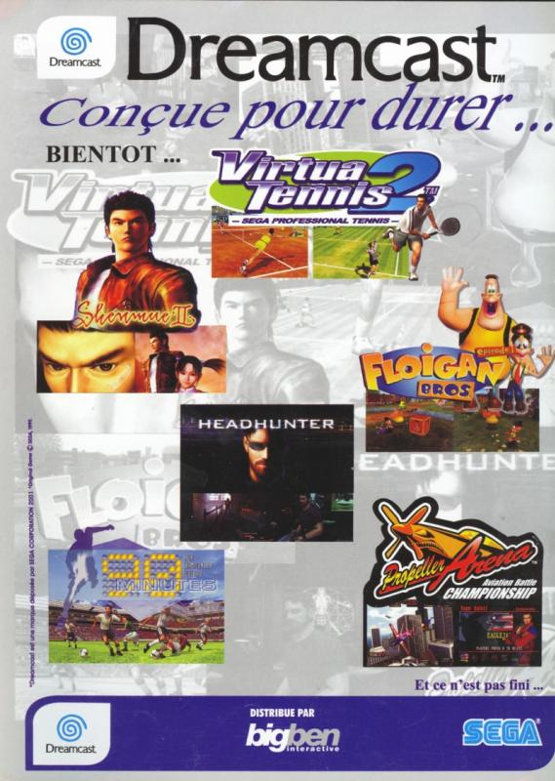 Publicité Dreamcast