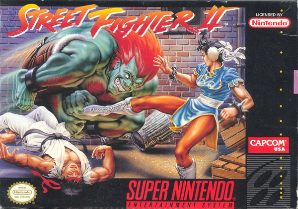Pochette US de Street Fighter 2