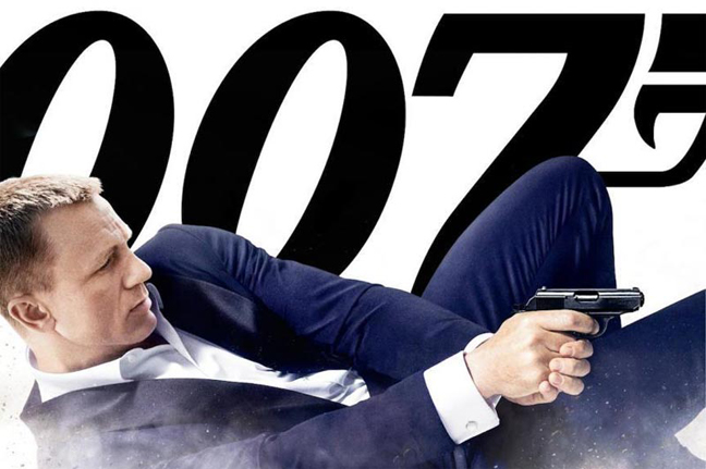Daniel Craig en James Bond dans Skyfall
