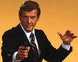 Roger Moore en James Bond